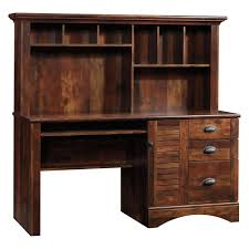 Sauder L Shaped Desk Salt Oak by Sauder Harbor View Computer Desk And Hutch Hayneedle