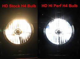 hd stock vs hi perf headlight bulbs w pics harley davidson forums
