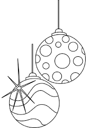 Christmas Tree Coloring Page Print Out by Ornaments For Christmas Tree Coloring Page Christmas Coloring