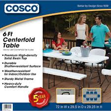 Cosco 6 Foot Centerfold Folding Table, Multiple Colors - Walmart.com Lifetime 72 In Black Plastic Stackable Folding Banquet Table280350 Luan 18x72 6 Ft Seminar Wood Table Vinyl Edging Bolt Solid Trestle 8 Folding Chairs Set Best Price Barnsley Uk For Rent Portable 6ft Rattan Design Fniture Lerado 6ft Foldin Half Rect Table Raptor Almond Table22900 Home Depot Canada Tables 6ft And Chairs Lennov 18m Outdoor Camping With Ft Commercial Combo Youtube Exciting Cosco Interesting Tfh Gazebos And Chair Set Indoor Use
