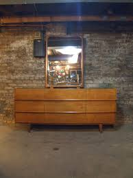 American Of Martinsville Bedroom Set by Mid Century Chicago American Of Martinsville Walnut Lowboy