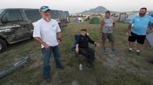 Wounded Warrior Member John Roberts Left Talks With Other Veterans At Their Campsite Wednesday
