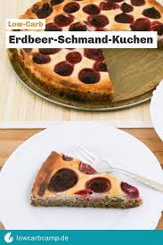 erdbeer schmand kuchen low carb proteinreich