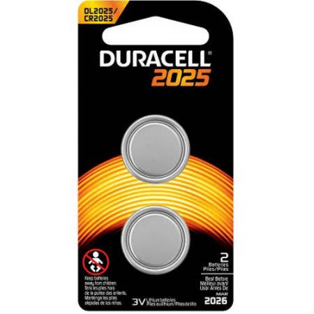 Duracell Coin Button 2025 Battery - 3V, x2