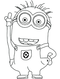 Minions Coloring Pages King Bob Full Size Of Minion Color Sheets Page Large Attractive