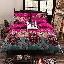 Brilliant Egyptian Cotton Luxury Boho Bedding Sets King Queen Size