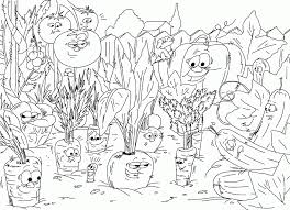 Vegetable Garden Colouring Pages