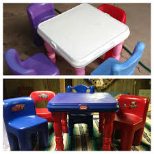 DIY Little Tikes Table And Chairs. We Used Krylon Fusion Spray Paint ... Little Tikes Easy Store Pnic Table Gestablishment Home Ideas Unbelievable Bold Un Bright U Chairs At Pics Of And Toys R Us Creative Fniture Tables On Carousell Diy Little Tikes Table And Chairs We Used Krylon Fusion Spray Paint Classic Set Chair Sets Divine Cjrchorganicfarmswebsite Victorian Fancy Beach Adorable Cute Kidkraft Farmhouse With Garden Red Wooden Desk Fresh Office Details About Vintage Red W 2 Chunky