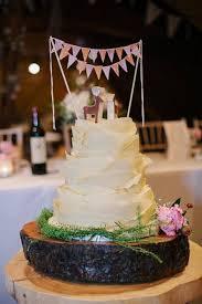 Wedding Cake Bunting Rustic Topper Garland Banner