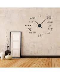 Math Formula Geometry Unique Vinyln Wall Decor Clock Funny Sticker For Office Bedroom Living Room Decoration