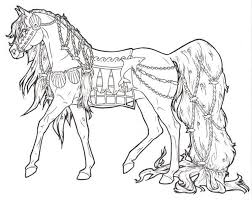 Arabian Horse Coloring Page Free Printable Pages