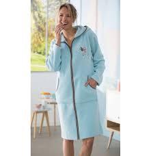 robe de chambre avec fermeture eclair robe de chambre polaire douce énergie françoise saget