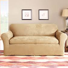 Walmart Sofa Slipcover Stretch by Sure Fit Stretch Suede 2 Piece Sofa Slipcover Walmart Com
