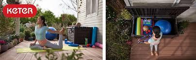 Premium Poly Patios Complaints by Amazon Com Keter Brightwood 120 Gallon Outdoor Garden Patio