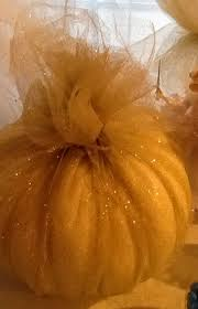 Carvable Foam Pumpkins Canada by Pumpkin Wrapped In Gold Shimmer Tulle Take This Make That
