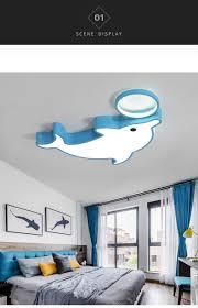 großhandel delphin kinderzimmer led deckenleuchte einfache kreative junge mädchen schlafzimmer licht baby room eye le rnb76 ledleader