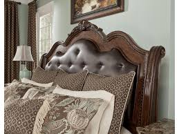 Ortanique Dining Room Table by Millennium Ledelle King Cal King Sleigh Headboard With Brown