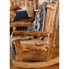 Rustic Rocking Chairs Log