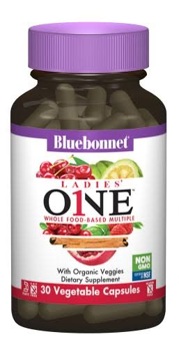 Bluebonnet Nutrition Ladies One Whole-Food Based Multiple 30 Vegetable Capsules