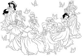 Princess Coloring Pages Free Archives Inside Disney