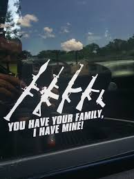 Stick Family Window Decal | The Firearms Forum - The Buying, Selling ... Truckdecalswheaton Elk Window Film Graphic Realtree Max1 Hd Camo Camouflage Decals Toyota Tacoma American Flag Rear Decal 2016 Importequipment Cool Skeleton Skull Vinyl Car Motorcycle Styling Graphics Window Wraptor Signs Vehicle Calgary Shits Gon Scrape Stanced Lowered Rat Rod Car Truck Sticker Fleet Fx Edmton Wraps Vinyl Lettering My New Truck Advertisement Marketing Cleaning Resource Stick Family Decal The Firearms Forum Buying Selling Cool Car Decals Speed Jdm Auto Windshield Bumper Stickers Race