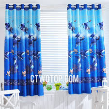 Checkered Flag Bedroom Curtains by Animal Whale Sea Turtle Royal Blue Dreamy Romantic Fun Bedroom