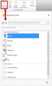 Autodesk Seek Revit Families by Add In Autodesk Seek для Revit