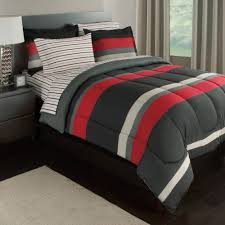 Rugby Stripe Reversible Bed In A Bag Bedding Set Available In