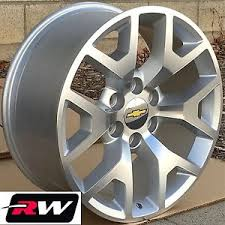 2014 2015 GMC Sierra OE Replica Wheels 24 inch Silver Machined