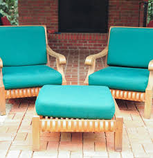 Smith And Hawkins Patio Furniture Cushions by Smith And Hawken Avignon Teak Club Chairs And Ottoman Ebth