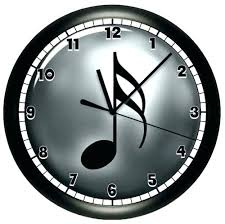 Moving Wall Clocks Musical Music Note