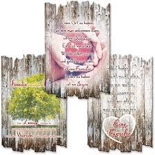 kreative feder 3er set deko holzschild mit spruch wandbild familie liebe shabby chic landhaus stil wanddeko 30x20cm