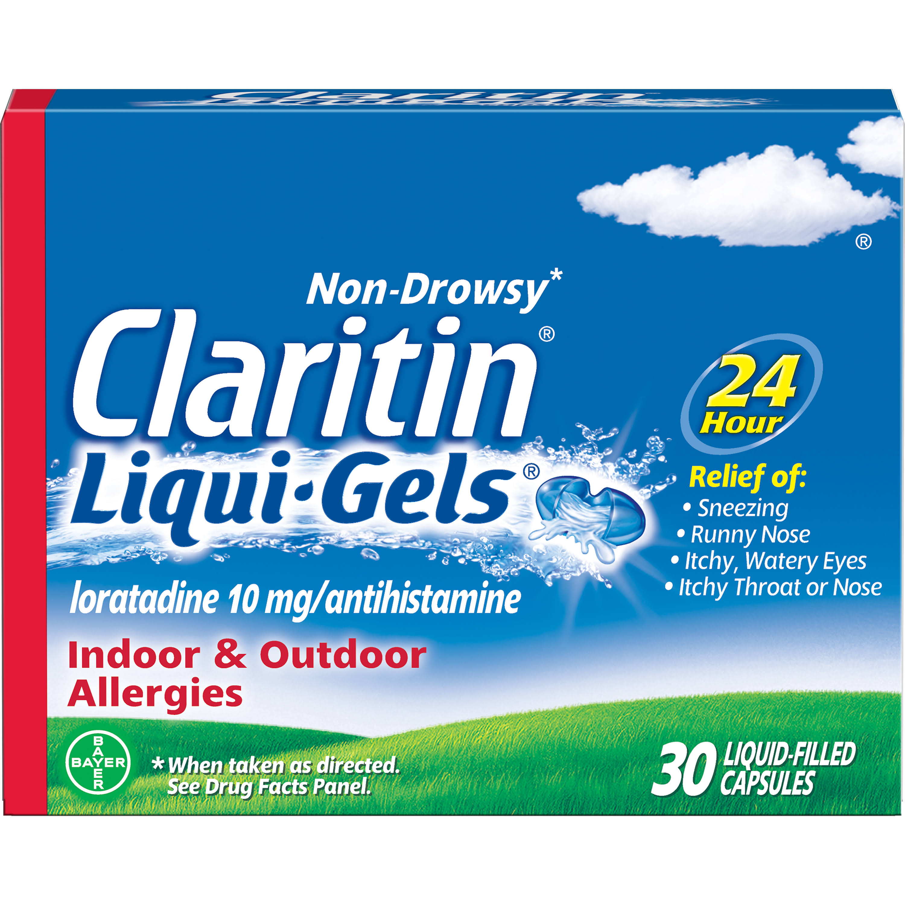 Bayer Claritin Liqui-Gels Liquid-Filled Capsules - x30