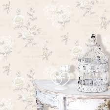 Cream Jenny Wren Shabby Chic Wallpaper