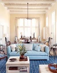 blue sofa decor