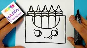 How To Draw A Crayon Box Kawaii And Easy Step By Video Download