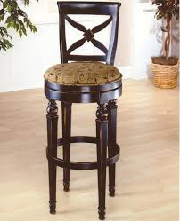 Counter Height Chairs With Backs by Black Wooden Chairs With Four Legs Also Circle Foot Rest Combined