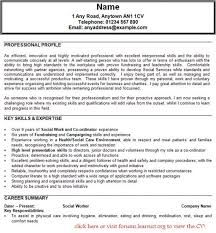 23 Social Work Cv Examples Well Curriculum Vitae For Workers Worker Example