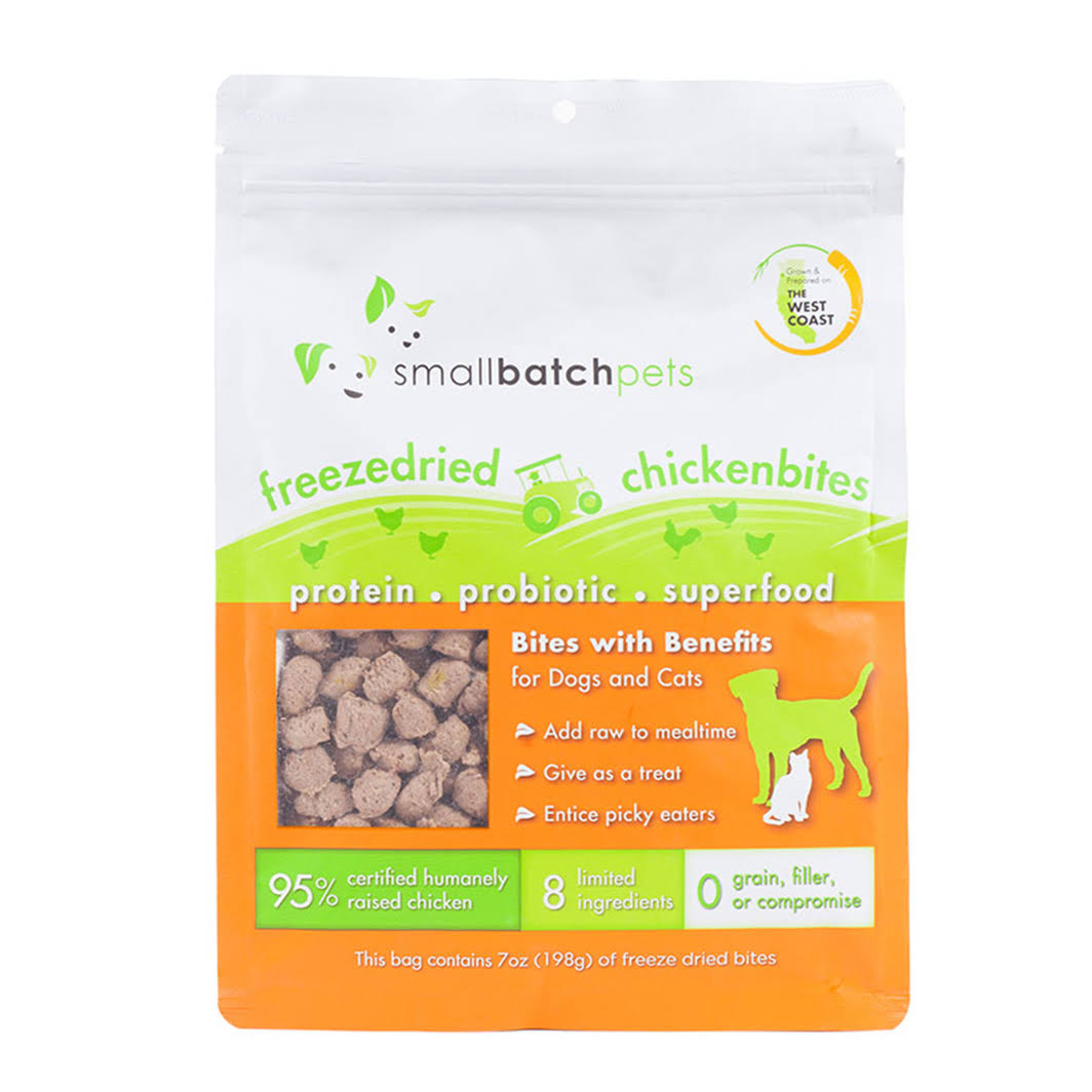Smallbatch Freeze-Dried Chicken Bites for Dog & Cat Chicken, 7 oz
