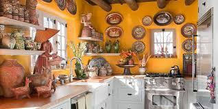 Yellow Kitchen with Santa Fe Style Southwest Kitchen Decor