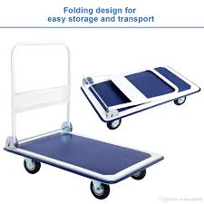 100 Best Hand Truck New 660lbs Platform Cart Folding Foldable Moving Warehouse Push