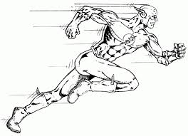 Running Superhero The Flash Coloring Pages For Kids Boys And Girls Regarding Page