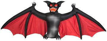 Gemmy Inflatable Halloween Animated Dragon by The Holiday Aisle Animated Scary Bat Halloween Decoration