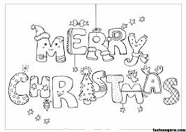 Merry Christmas Print Out Coloring Pages Original Sources Here