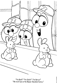 Online For Kid Veggie Tale Coloring Pages 50 Free Kids With