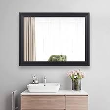 zhowi badezimmer wandspiegel groß gerahmt wandmontage dekorativ rechteckig modern für zuhause schlafzimmer wohnzimmer zum aufhängen