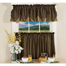 Checkered Flag Window Curtains by Sturbridge Plaid Curtains Country Style Window Treatmenst