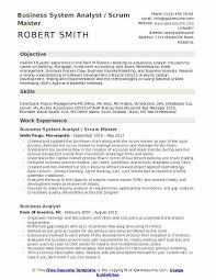 Business System Analyst Scrum Master Resume Model
