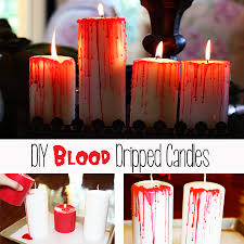 Halloween Flameless Taper Candles by Diy Blood Dripped Candles Lilyshop By Jessie Daye
