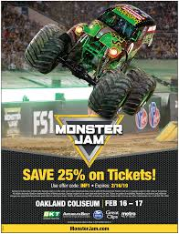 100 Monster Truck Oakland Jam Bay Area 2019 WIN Tickets For Your Family